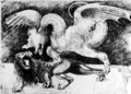 Dragon Fighting a Lion - Andrea Zoan