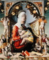 The Virgin and Child Surrounded by Eight Angels, 1455 - Marco Zoppo