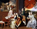 George, 3rd Earl Cowper, with the Family of Charles Gore, c.1775 - Johann Zoffany