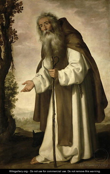 St. Anthony Dispirited, 1640 - Francisco De Zurbaran