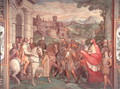 Charles V (1500-58) with Alessandro Farnese (1546-92) at Worms, from the Sala dei Fasti Farnese (Hall of the Splendors of the Farnese), 1557-66 - Taddeo Zuccaro