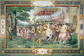 Francis I (1494-1547) and Alessandro Farnese (1546-92) Entering Paris in 1540, from the Sala dei Fasti Farnese (Hall of the Splendors of the Farnese) 1557-66 - Taddeo Zuccaro