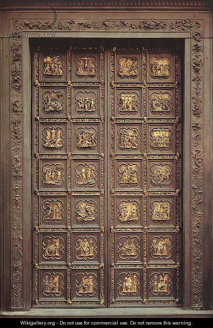 Click here to download image & North Doors (Life of Christ) - Lorenzo Ghiberti - WikiGallery.org ...