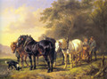 A Plough Team at Rest - Wouterus Verschuur