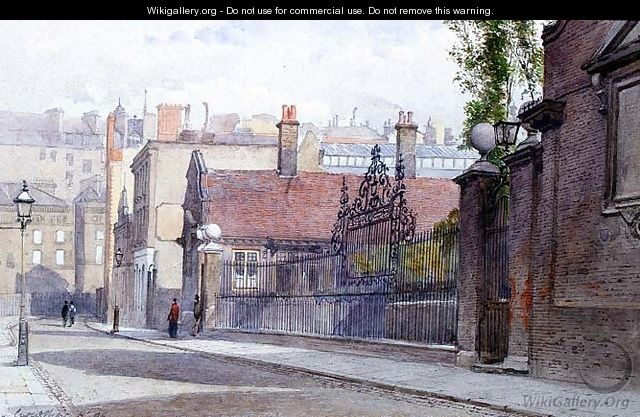 Emmanuel Hospital, Buckingham Gate, view from the street, 1886 - John Crowther