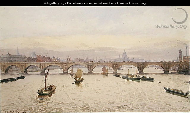 View of Waterloo Bridge from Hungerford Bridge, 1888 - John Crowther