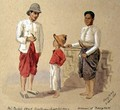 Lao, the head boatman, with his son and a woman of Bangkok, 1895 - Major General R.G. Woodthorpe