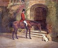Portrait of the High Sheriff of the County of Rutland seated on his Bay Hunter before Hambleton Hall, 1889 - William Woodhouse