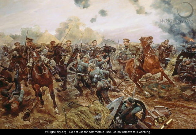 The First VC of the European War, 1914 - Richard Caton Woodville