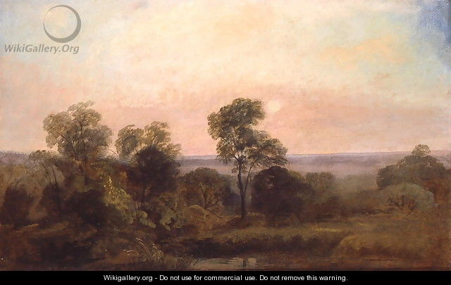 Wooded Landscape at Dusk - Peter de Wint