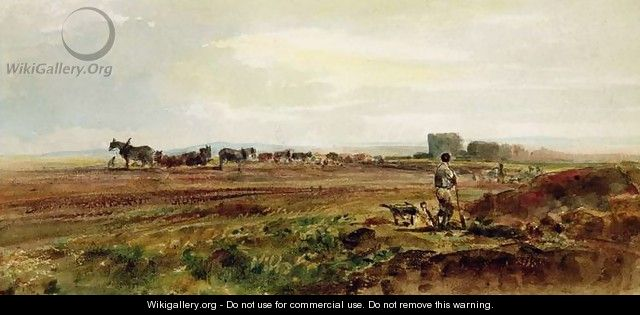 Ploughing the Heathland, Lincolnshire - Peter de Wint