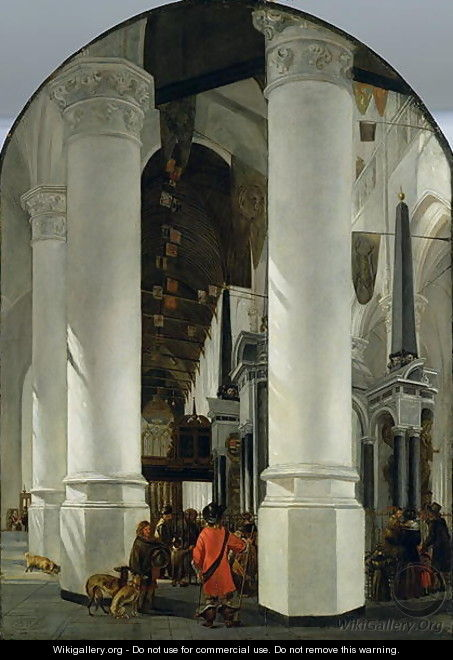 Interior view of the New Church in Delft - Emanuel de Witte