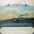 Hudson River Steamboat Clermont, 1858 - Richard Varick De Witt