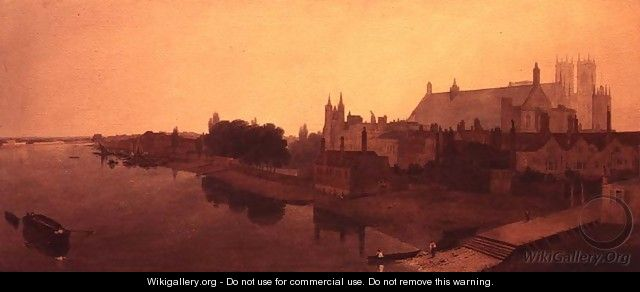 Westminster Abbey and Hall and Old Houses of Parliament - Peter de Wint