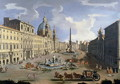 A View of the Piazza Navona in Rome - (circle of) Wittel, Gaspar van (Vanvitelli)