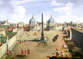 A View of the Piazza del Popolo in Rome - (circle of) Wittel, Gaspar van (Vanvitelli)