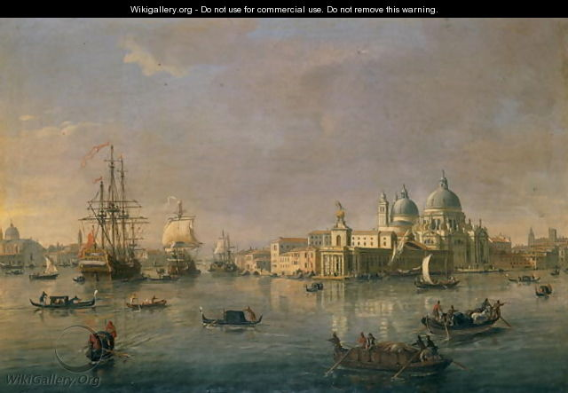 The Bay toward the Grand Canal and the Giudecca in Venice - Caspar Andriaans Van Wittel