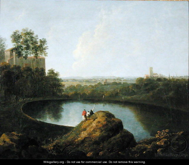 The Head of Lake Nemi - Richard Wilson