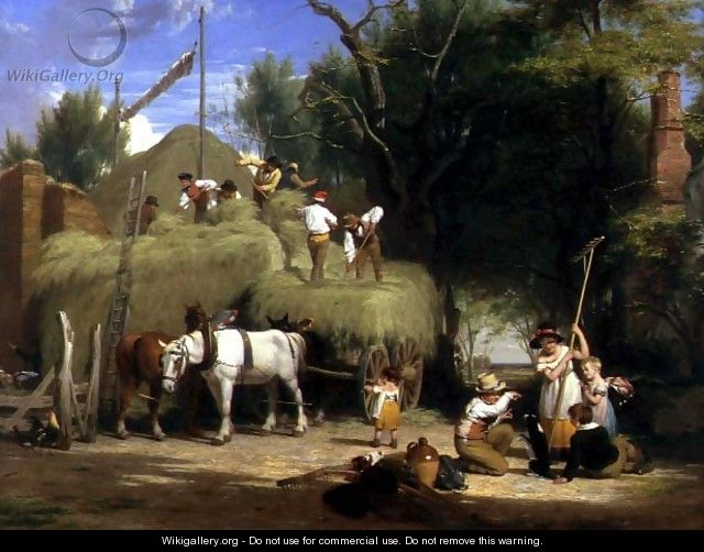 Stacking Hay, 1840 - William Frederick Witherington