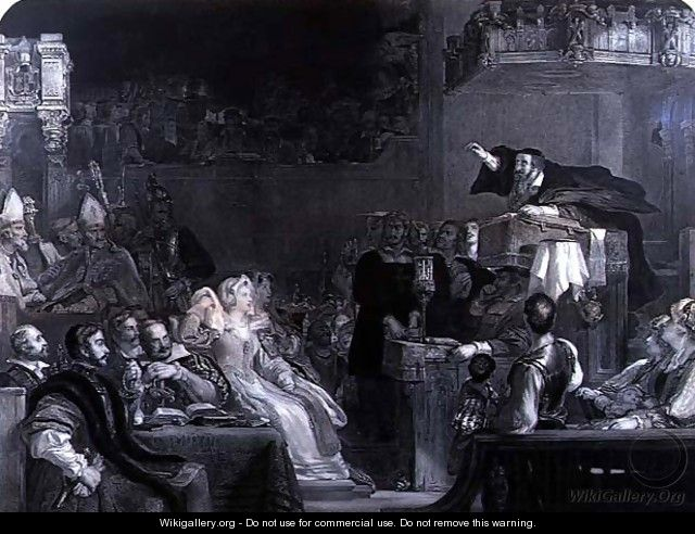 The Preaching of John Knox, c.1837 - Sir David Wilkie
