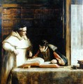 Washington Irving (1783-1859) Researching Columbus in the Convent of Rabida, 1828-29 - Sir David Wilkie