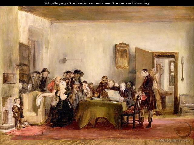 Sketch for The Reading of a Will, c.1820 - Sir David Wilkie