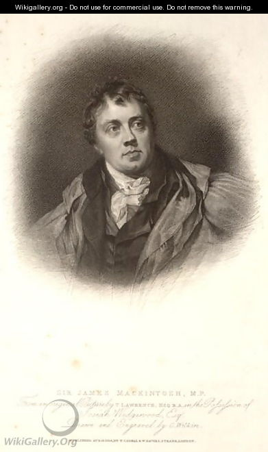 Sir James Mackintosh, illustration from A Collection of Portraits of Medical Men, compiled by Sir John William Thomson-Walker - Charles Wilkin