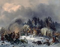 Scene from the Russian-French War in 1812 - Bogdan Willewalde