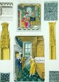 Interior decoration of houses represented in manuscripts of the 15th century, from Monuments Francais, printed by Amedee Peree, 1839 - Gabrielle Willemin