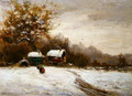 Gypsy Caravans in the Snow - Leila K. Williamson