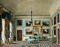 The Blue Velvet Room at Buckingham House, engraved by Daniel Havell (1785-1826), from The History of the Royal Residences of Windsor Castle, St. James Palace, Carlton House, Kensington Palace, Hampton Court and Frogmore, published by William Pyne, 1819 - Charles Wild