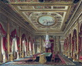 The Throne Room, Carlton House, from 'The History of the Royal Residences', engraved by Thomas Sutherland (b.1785), by William Henry Pyne (1769-1843), 1818 - Charles Wild