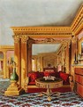 The Alcove in the Golden Drawing Room, Carlton House, from The History of the Royal Residences, engraved by William James Bennett (1787-1844), by William Henry Pyne (1769-1843), 1819 - Charles Wild