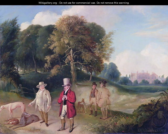 J. M. W. Turner (1775-1851) and Walter Ramsden Fawkes (1769-1825) at Farnley Hall, c.1820-24 - John Robert Wildman