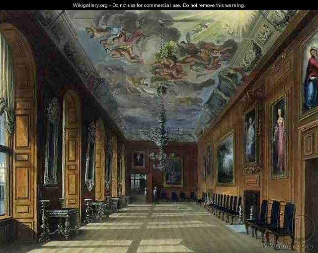 The Ball Room, Windsor Castle, from Royal Residences, engraved by Thomas Sutherland (b.1785), pub. by William Henry Pyne (1769-1843), 1817 - Charles Wild