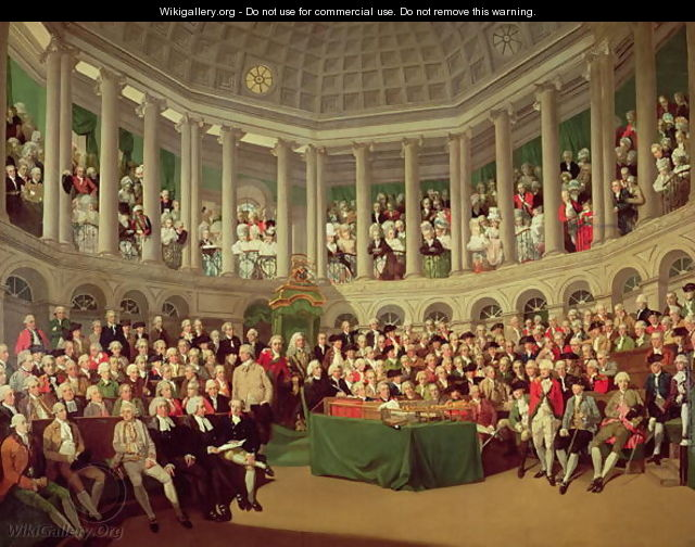The Irish House of Commons, 1780 - Francis Wheatley