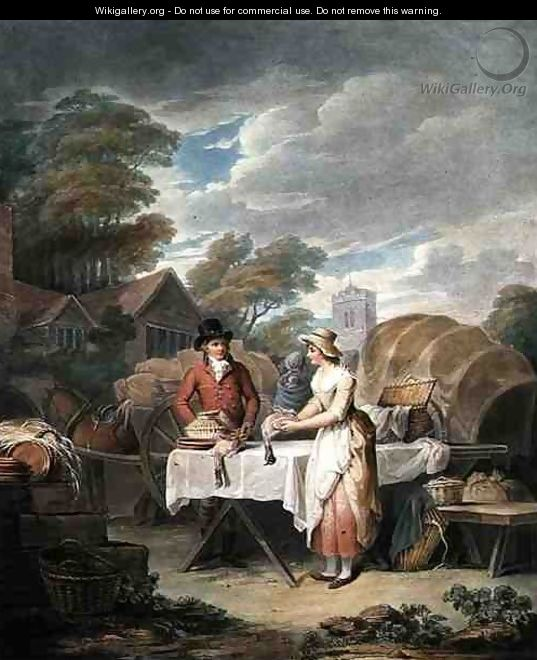 At Market, engraved by W. Annis, pub. by Morgan & Pearce, 1803 - Francis Wheatley