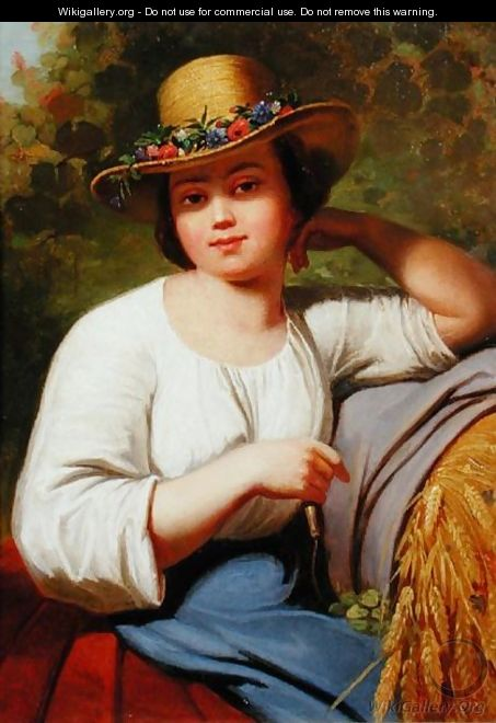 Portrait of a country girl - Francis Wheatley