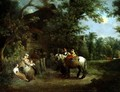 Country Folk Outside a Rustic Tavern - Francis Wheatley
