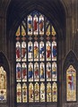 The West Windows, plate C from Westminster Abbey, engraved by J.R. Hamble (fl.1775-1825) pub. by Rudolph Ackermann (1764-1834) 1812 - (after) White, William Johnstone
