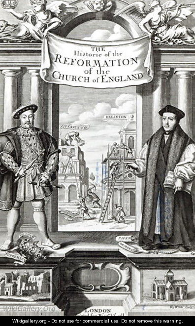 Titlepage of The History of the Reformation of the Church of England - Robert White