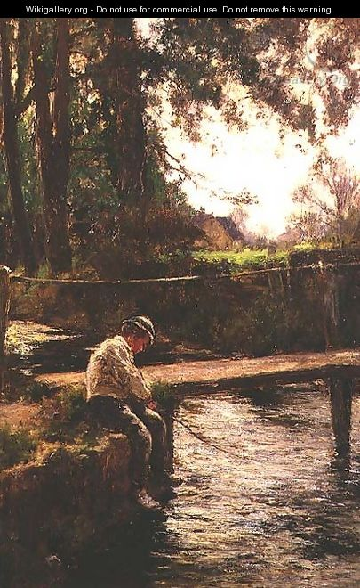 The Young Angler - John White