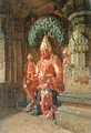 Vishnu Statue in the Indra Temple, 1874 - Piotr Petrovitch Weretshchagin