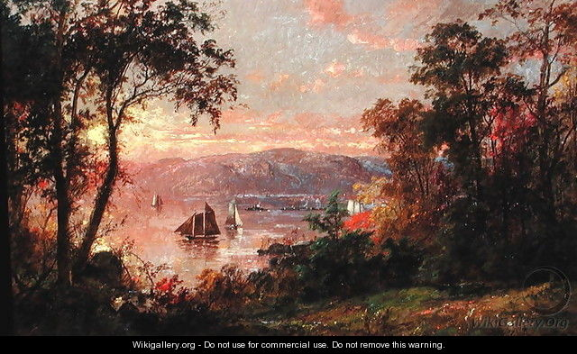 Sailing (The Hudson at Tappan Zee) 1883 - Jasper Francis Cropsey