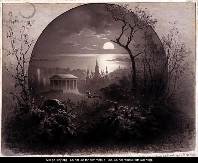 View from Greenwood Cemetery, Brooklyn, 1881 - Rudolf (Daniel Ludwig) Cronau
