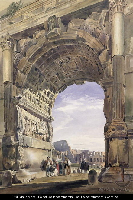 Arch of Titus, Rome, 1842 2 - Thomas Hartley Cromek