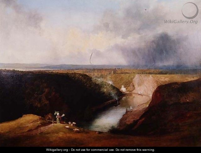 View of the Avon Gorge from Observatory Hill, c.1830 - William West