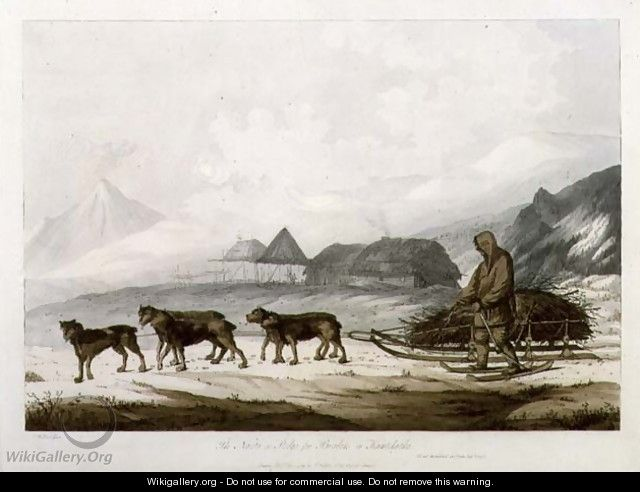 The Narta, or Sledge for Burdens in Kamtschatka, from Views in the South Seas, pub. 1789 - John Webber