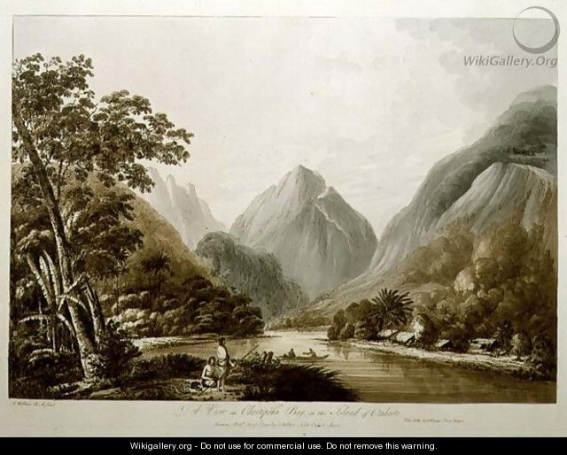A View in Oheitepeha Bay in the Island of Otaheite, from Views in the South Seas, pub. 1791 - John Webber
