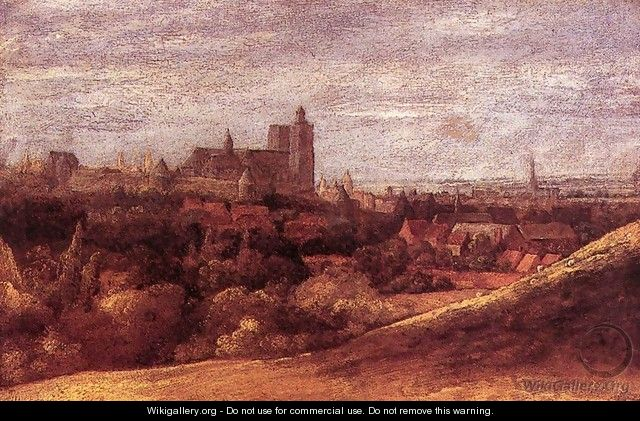 View of Brussels from the North-East c. 1625 - Hercules Seghers